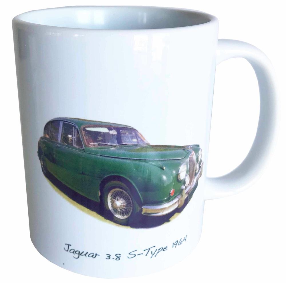Jaguar S-Type 3.8 1964 Ceramic Mug - Ideal Gift for the Sports Saloon Enthu