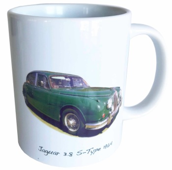 Jaguar S-Type 3.8 1964 Ceramic Mug - Ideal Gift for the Sports Saloon Enthusiast - Free UK Delivery