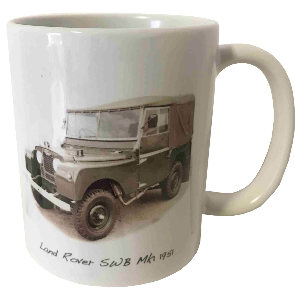 Land Rover Mk1 SWB 1951 Ceramic Mug - Ideal Gift for the Off-Road Enthusias