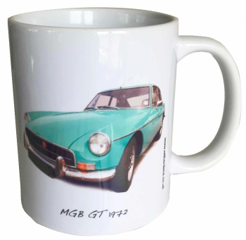MGB GT 1972 (Green) Ceramic Mug - Ideal Gift for the Sports Car Enthusiast - Free UK Delivery