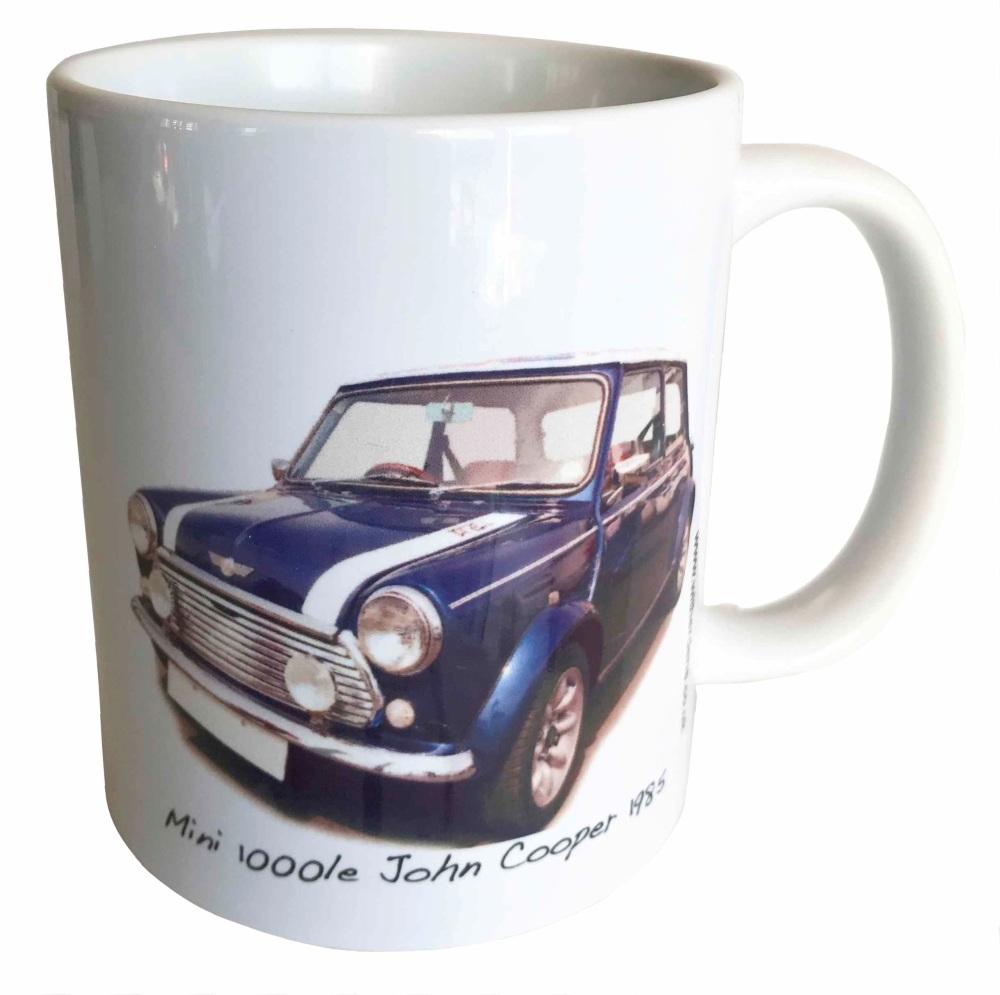 Mini 1000le 'John Cooper' 1985 - Ceramic Mug - Memories of your First Car