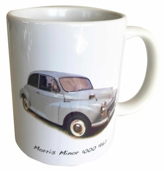 Morris Minor 1000 1962 (Pale Blue) Ceramic Mug - The District Nurse's car? - Free UK Delivery