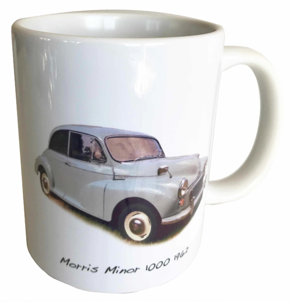 Morris Minor 1000 1962 (Pale Blue) Ceramic Mug - The District Nurse's car?