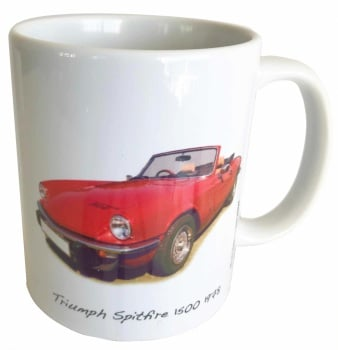Triumph Spitfire 1500 1978 Ceramic Mug - Ideal Gift for the Sports Car Enthusiast - Free UK Delivery