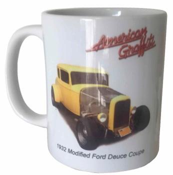 Ford Deuce Coupe Hot Rod 1932 Ceramic Mug - American Graffiti - Ideal Gift for the Film/Car Enthusiast