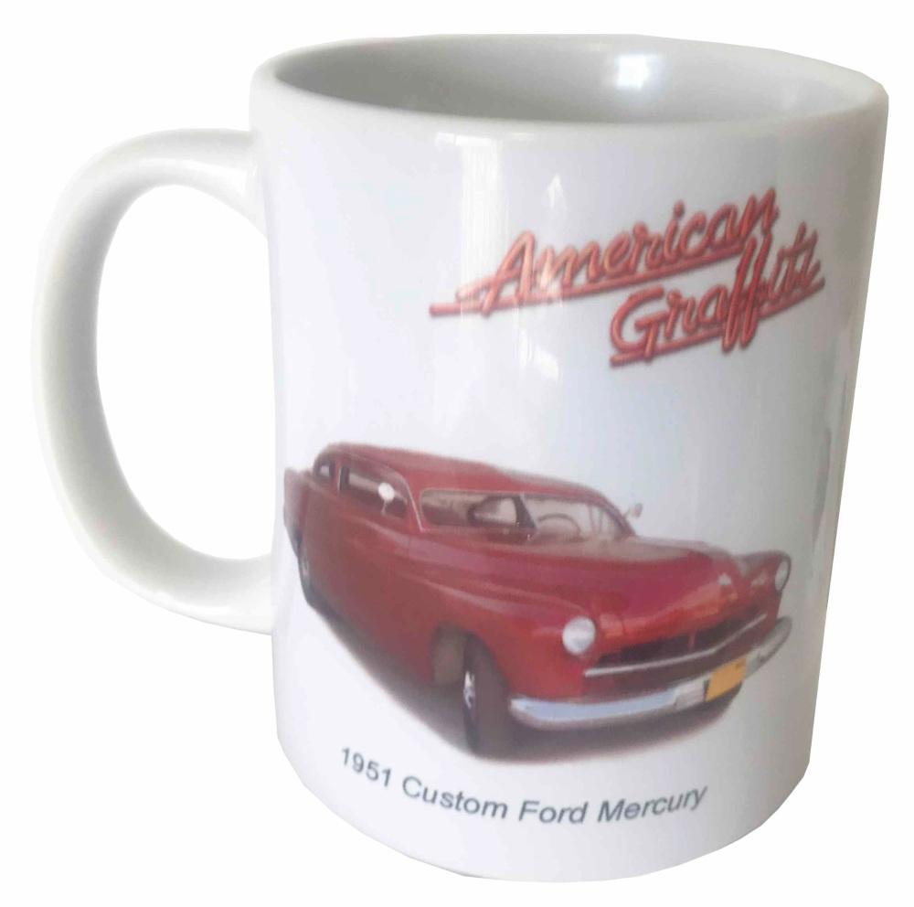 Ford Mercury Hot Rod 1951 Ceramic Mug - American Graffiti - Ideal Gift for