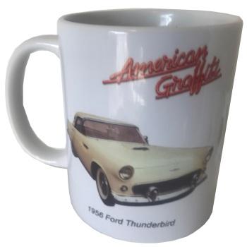 Ford Thunderbird 1956 Ceramic Mug - American Graffiti - Ideal Gift for the Film/Car Enthusiast