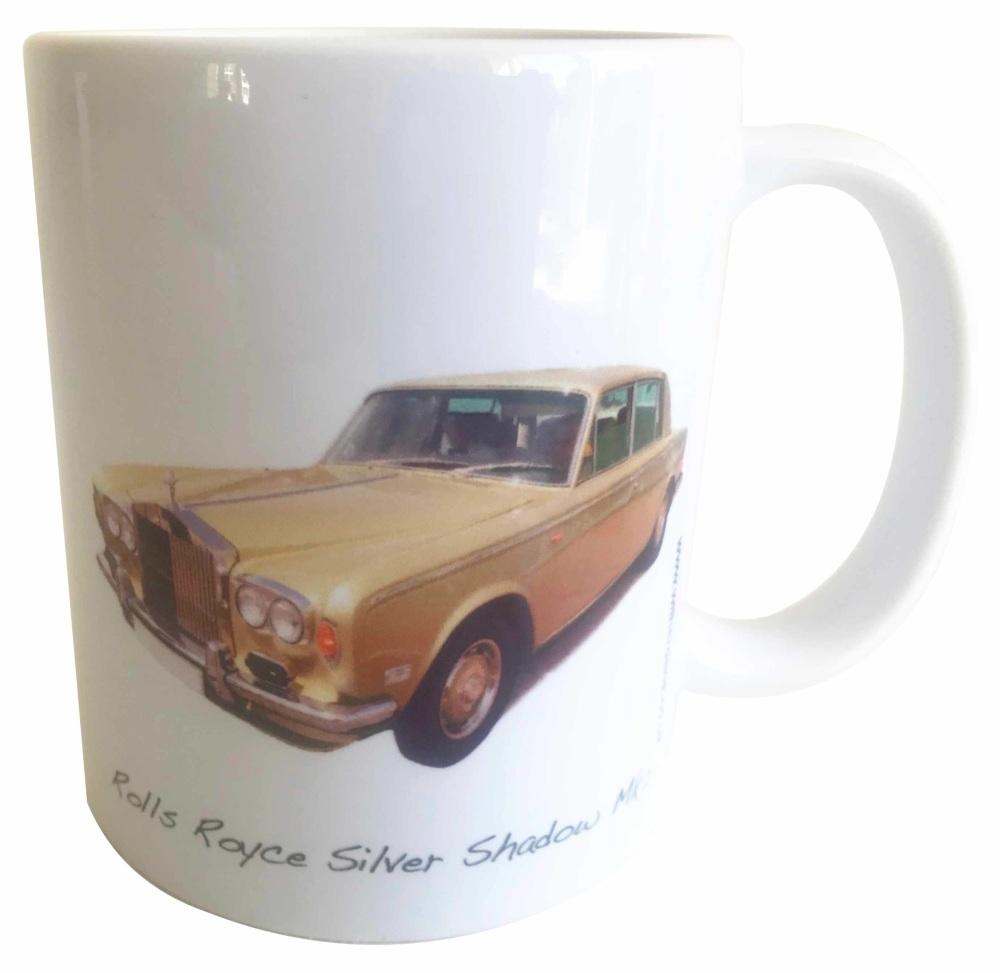 Rolls Royce Silver Shadow Mk2 Ceramic Mug - Ideal Gift for the Luxury Car E