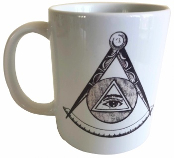 All Seeing Eye - Masonic Ceramic Mug