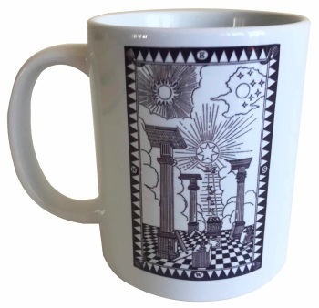 First Degree Tracing Board - Masonic Ceramic Mug