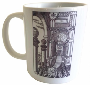 Second Degree Tracing Board - Masonic Ceramic Mug