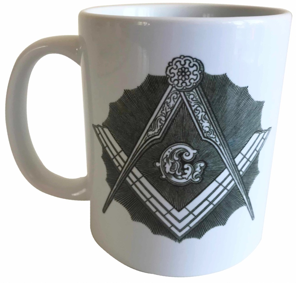 Square and Compasses - Masonic Ceramic Mug