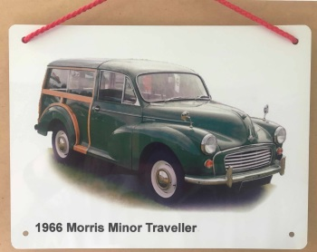 Morris Minor Traveller 1966 (Green)- Aluminium Plaque 148 x 210mm