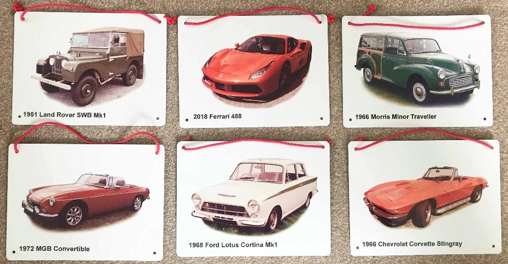 Classic Car Metal Plaques