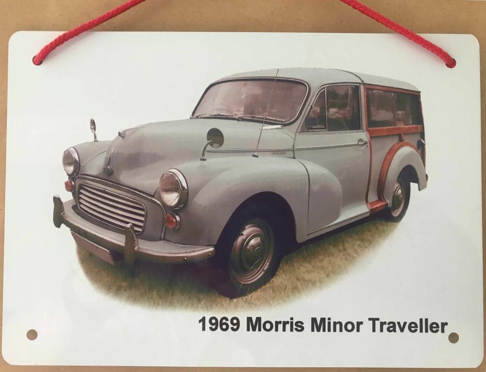 Morris Minor Traveller 1966 (Green)- Aluminium Plaque 150 x 200mm