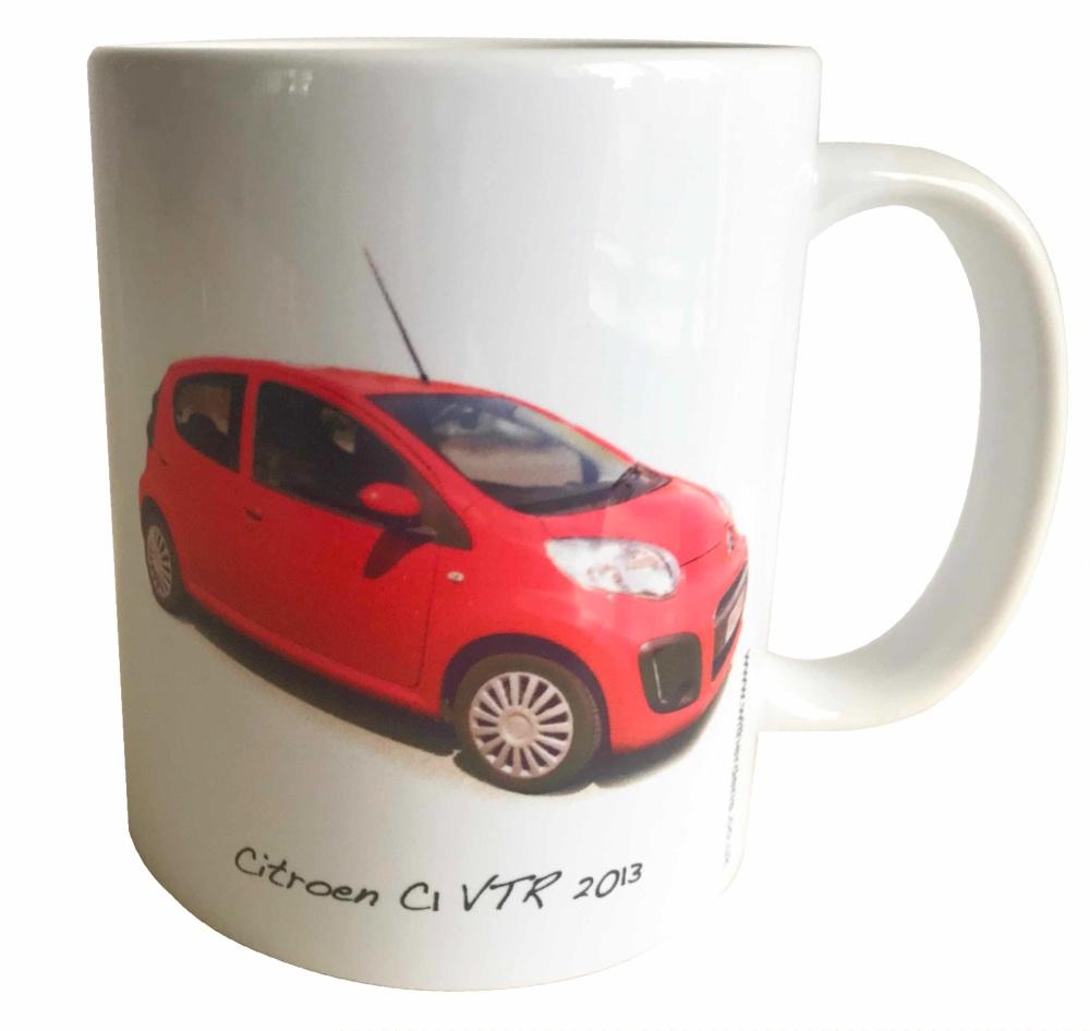 Citroen C1 VTR 2013 -  Ceramic Mug - First Car - Free UK Delivery