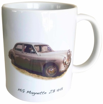 MG Magnette ZB 1958 Ceramic Mug - Ideal Gift for 1950s Enthusiast - Free UK Delivery