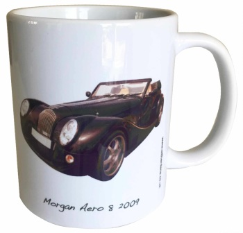 Morgan Aero 8 2009 Ceramic Mug - Ideal Gift for the Sports Car Enthusiast - Free UK Delivery