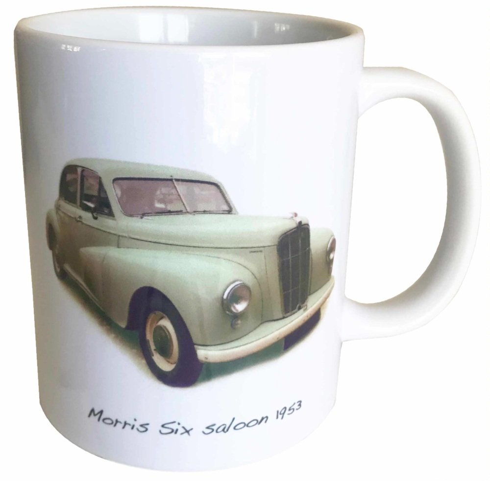 Morris Six 2.2l 1953 -  Ceramic Mug - Ideal Gift for 1950s Enthusiast - Fre