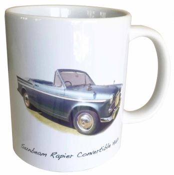Sunbeam Rapier Convertible 1963 - Ceramic Mug - Ideal Gift for the Car Enthusiast - Free UK Delivery
