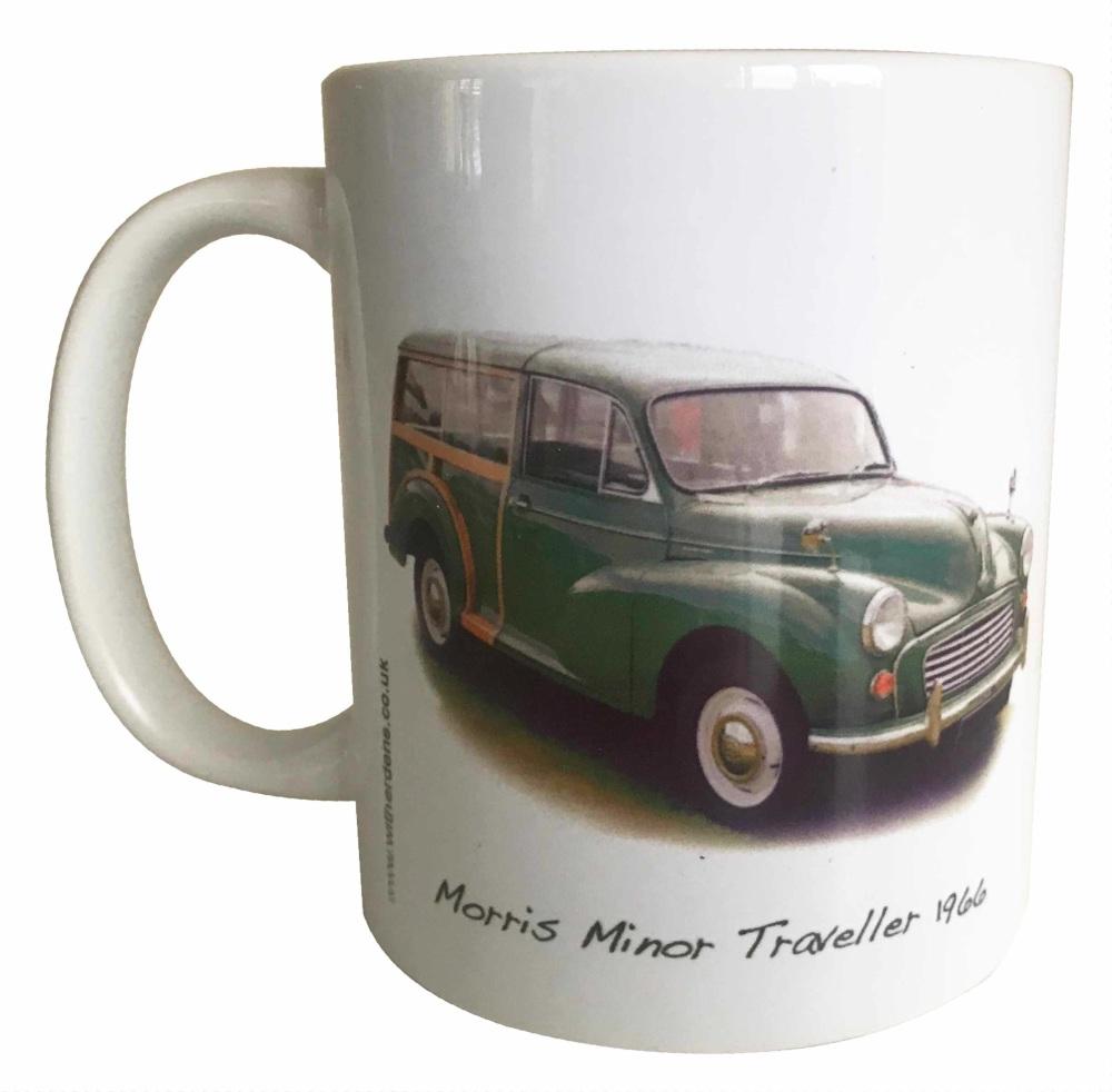 Morris Minor Traveller 1966 (Green) Ceramic Mug - First Car Memories - Free