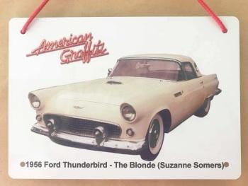 Ford Thunderbird 1956 from American Graffiti - Aluminium Plaque 148 x 210mm
