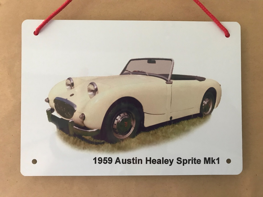 Austin Healey Mk1 1959 - A5 Aluminium Plaque - Ideal Gift for the Car Enthu