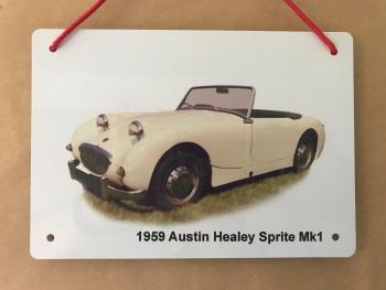 Austin Healey Mk1 1959 - A5 Aluminium Plaque - Ideal Gift for the Car Enthusiast