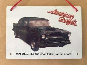 Chevrolet 150 (Modified) 1955 from the film American Graffiti - A5 Aluminium Plaque - Gift for Film Fan