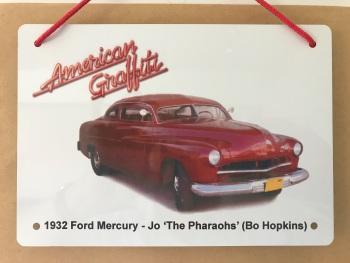 Ford Mercury (Custom) 1951 from the film American Graffiti - A5 Aluminium Plaque - Gift for the Film Fan