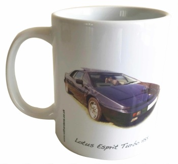 Lotus Esprit Turbo 1988 - Ceramic Mug - Ideal Gift for the Lotus Car Enthusiast