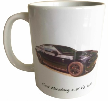 Ford Mustang 3.7l V6 2012 - Ceramic Mug - Ideal Gift for the American Car Enthusiast - Free UK Delivery