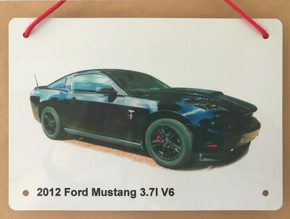 Ford Mustang 3.7l V6 2012 - Aluminium Plaque 148 x 210mm