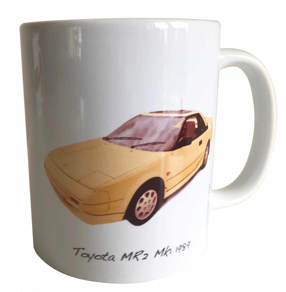 Toyota MR2 Mk1 1989 (Yellow) - Ceramic Mug - Ideal Gift for Japanese Car En