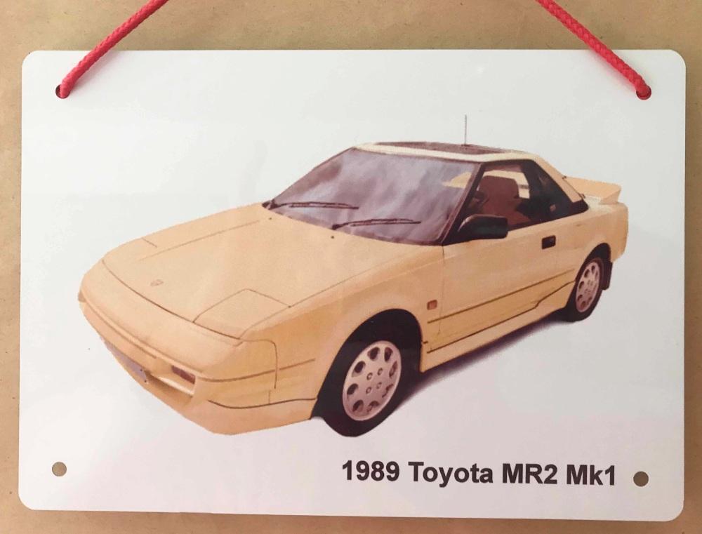 Toyota MR2 Mk1 1989 (Yellow) - Photograph printed on Aluminium 210x148mm -