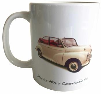 Morris Minor Convertible 1965 (Cream) Ceramic Mug - Ideal Present