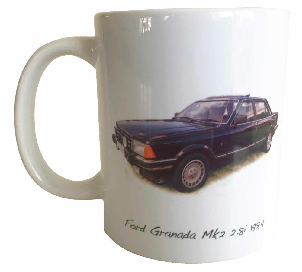 Ford Granada Mk2 2.81 1984 - Ceramic Mug - Ideal Gift for the Car Enthusias
