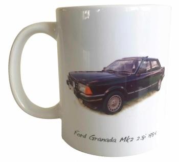 Ford Granada Mk2 2.81 1984 - Ceramic Mug - Ideal Gift for the Car Enthusiast