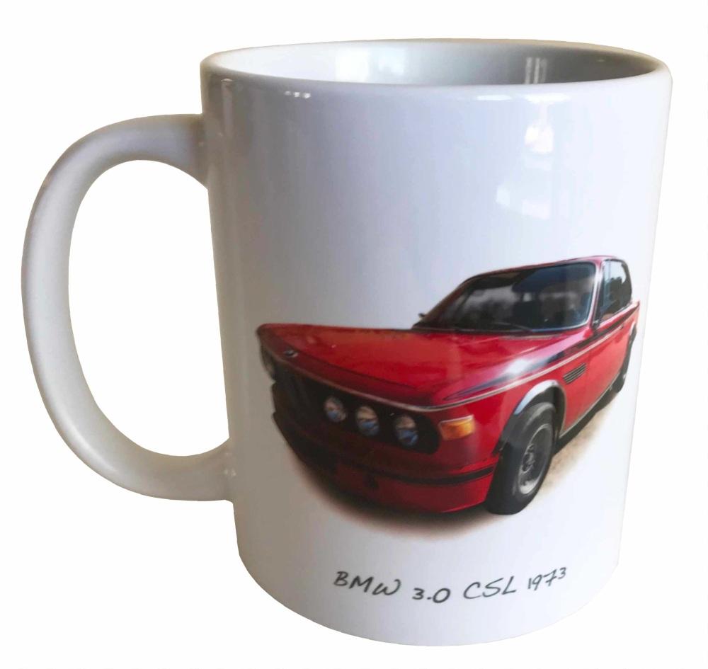 BMW 3.0 CSL 1973 -  Ceramic Mug - German Race Car - Fun Gift - Free UK Deli