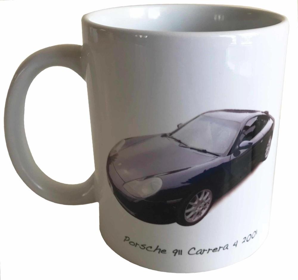 Porsche 911 Carrera 4 2001 - Ceramic Mug - Ideal Gift for German Car Enthus