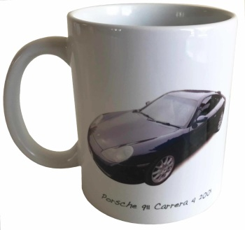 Porsche 911 Carrera 4 2001 - Ceramic Mug - Ideal Gift for German Car Enthusiast - Free UK Delivery