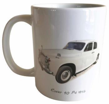 Rover 90 P4 1956 -  Ceramic Mug - Ideal Gift for 1950s Enthusiast - Free UK Delivery
