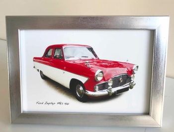 Ford Zephyr Mk 2 1962 - Photo (4x6in) in a Silver coloured frame - Free UK Delivery