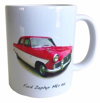Ford Zephyr Mk2 1962 - Ceramic Mug - Ideal Gift for the Car Enthusiast