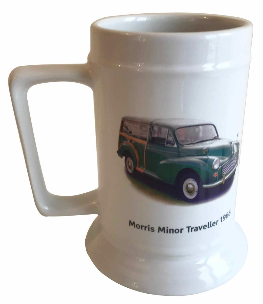 Morris Minor Traveller 1966 (Green) - 18oz Ceramic Tankard - Ideal Gift for