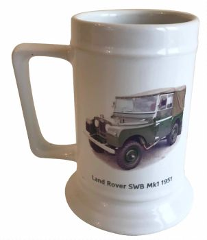 Land Rover SWB Mk 1 1951 - 18oz Ceramic Tankard - Ideal Gift for the Car Enthusiast