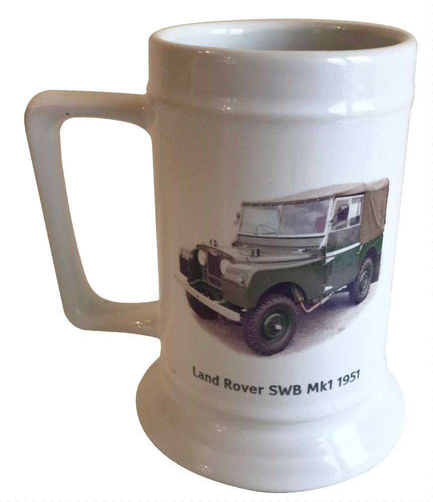 Land Rover SWB Mk 1 1951 - 18oz Ceramic Tankard - Ideal Gift for the Car En