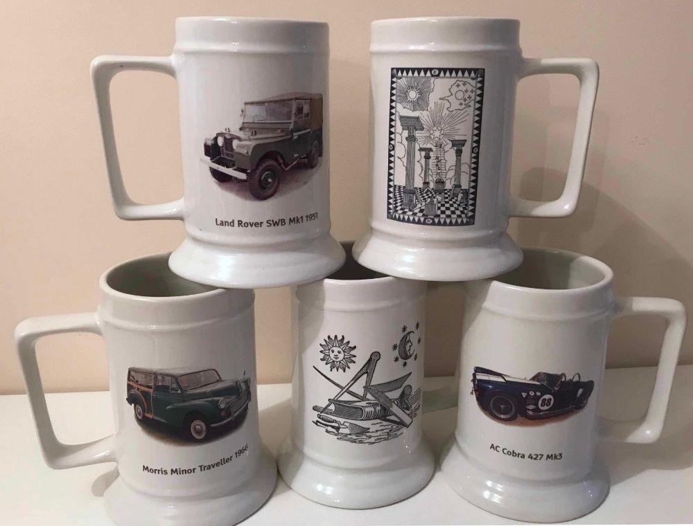 Ceramic Printed  Beer Tankards