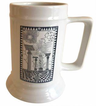First Degree Tracing Board - 18oz Ceramic Tankard - Masonic