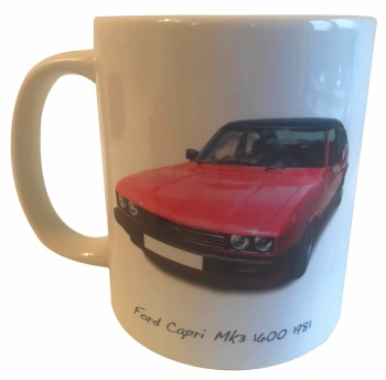 Ford Capri Mk3 1600 1981 -  Ceramic Mug - Ideal Gift for the Car Enthusiast - Free UK Delivery